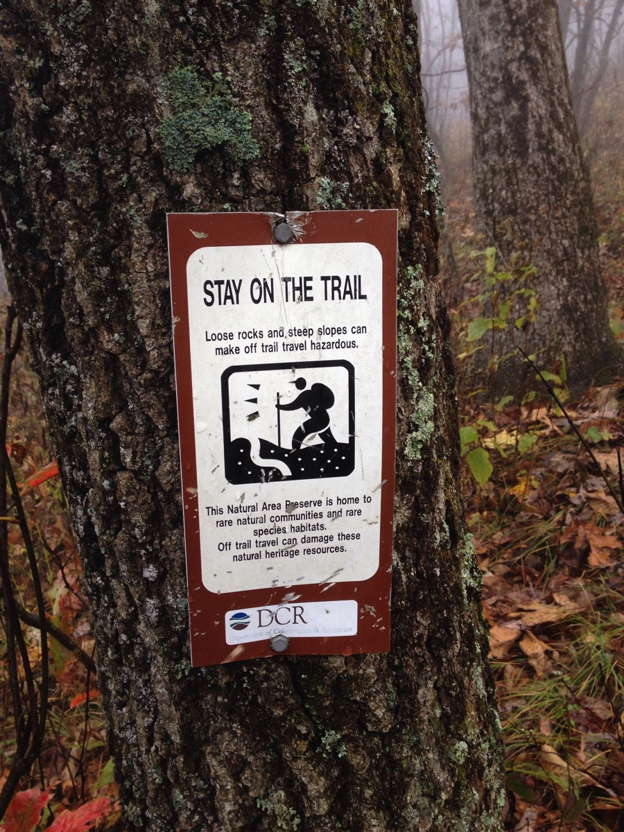 Stay on the trail - probably good advice